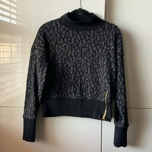 Old Navy Leopard Print Cropped Sweater